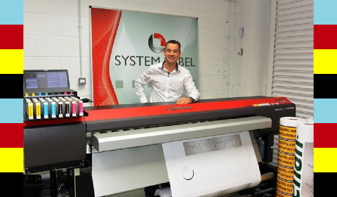 Alan Beirne of System Label with the new Roland XF-640