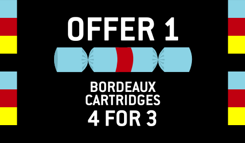 Bordeaux Ink 440 Cartridges - Buy 3 at €65 and get a fourth cartridge absolutely free